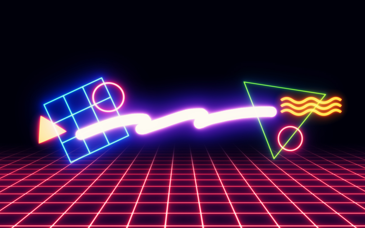 80s Neon Shapeswallpapers On Behance