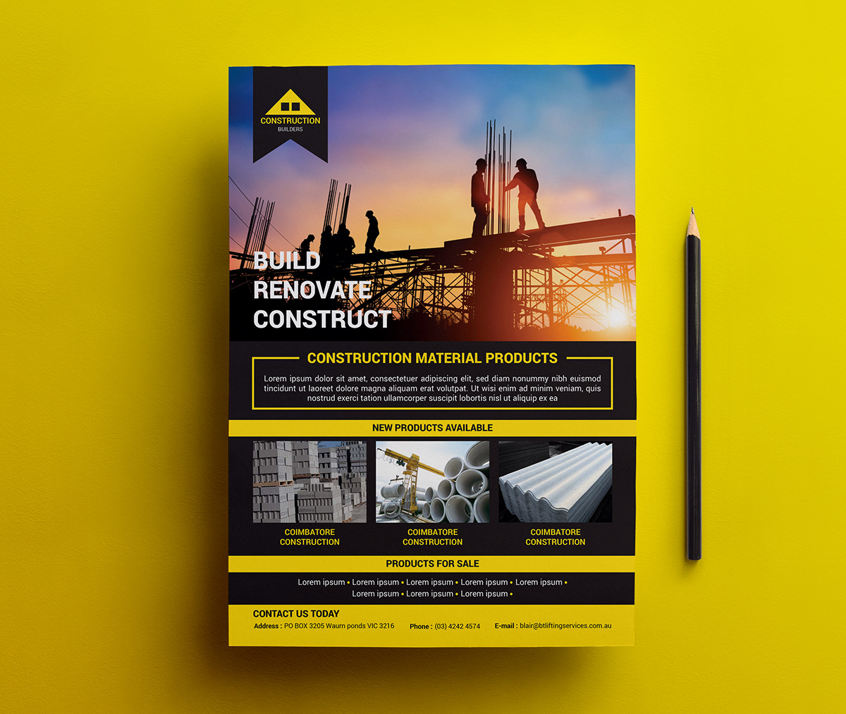 Construction Flyer on Wacom Gallery