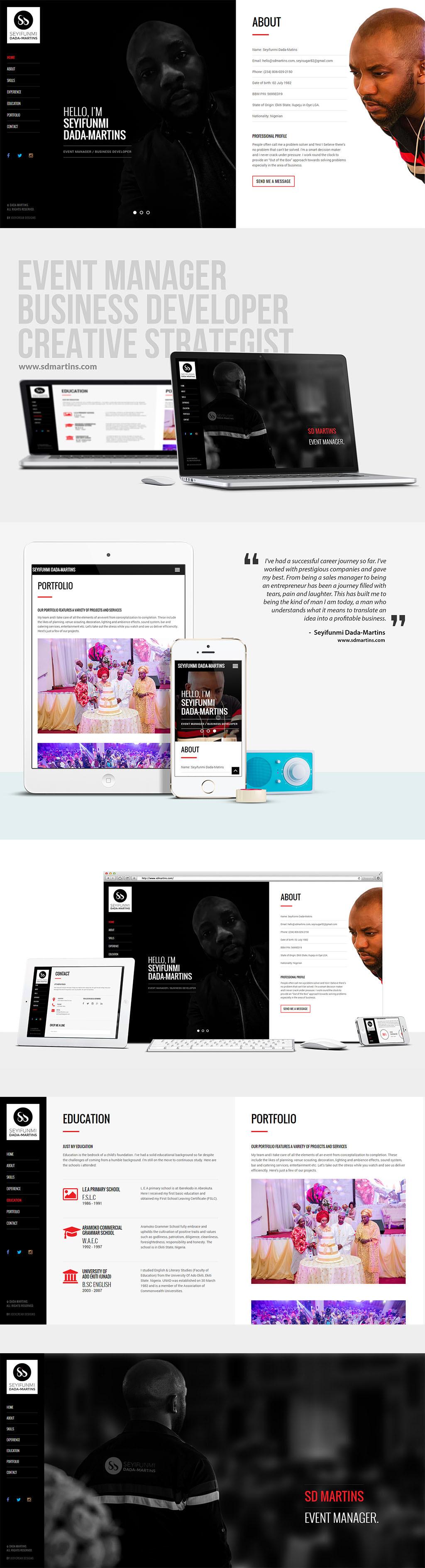 SD Martins Website Design on Behance
