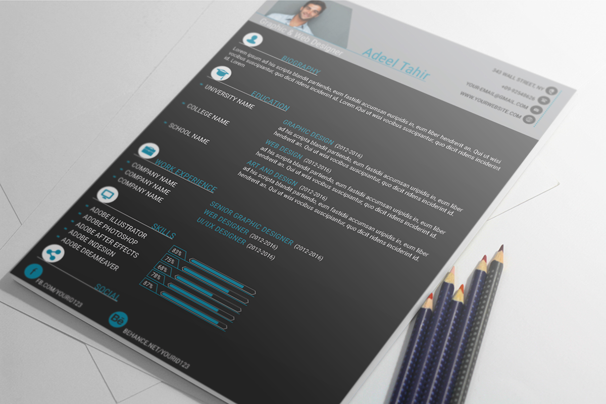 resume and cover letter on behance