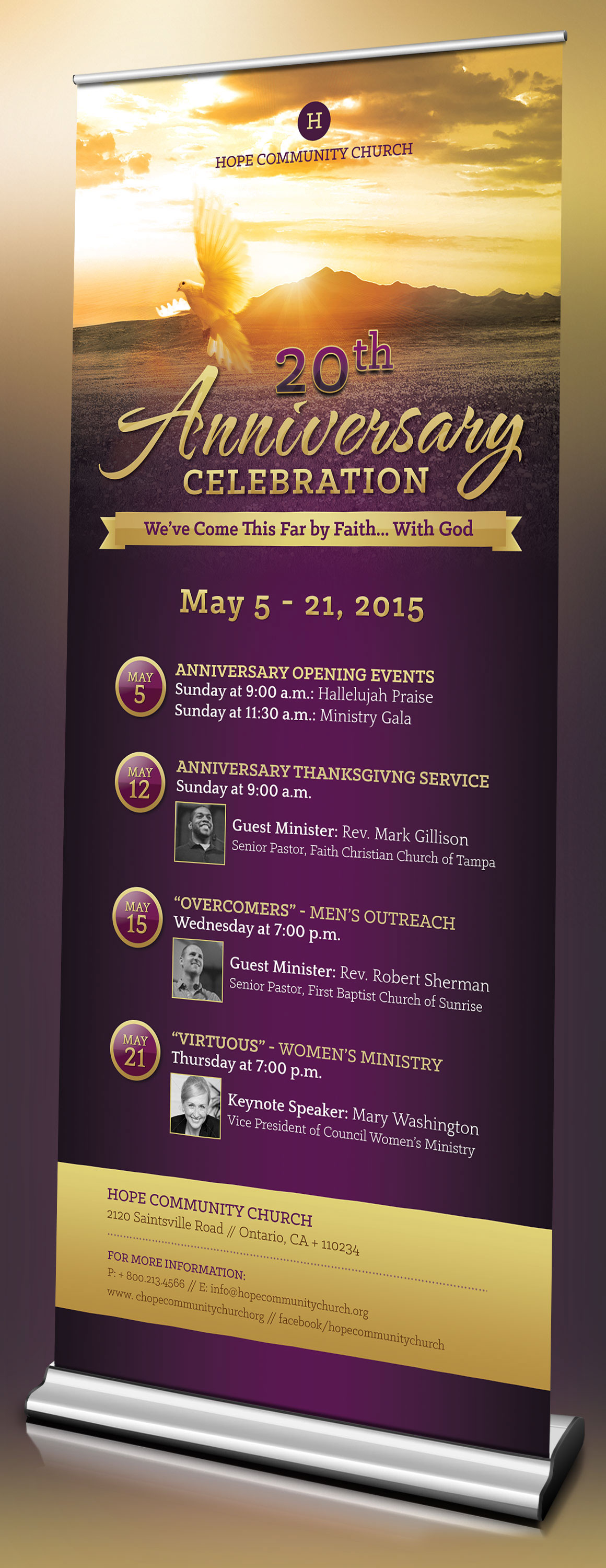 Church Anniversary Template Kit On Behance