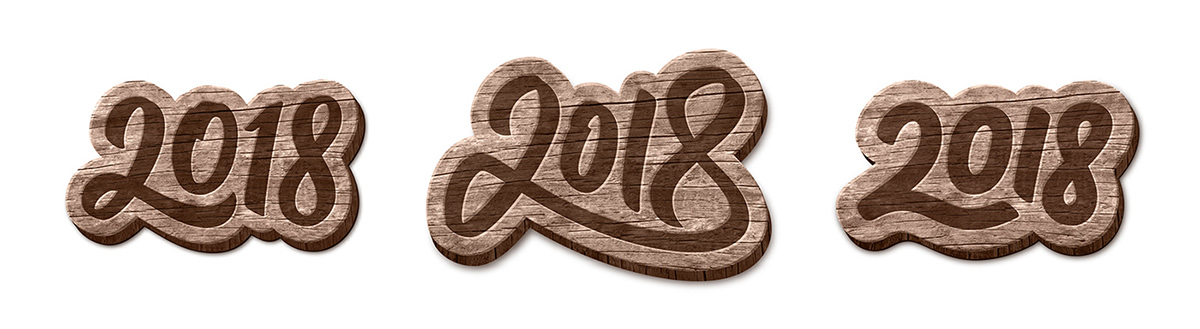 New Year 2018 2018 year Christmas new year happy greetings vector background number Script