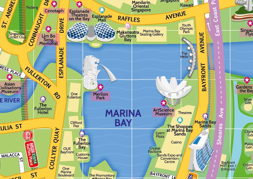 Marina Bay Singapore Map