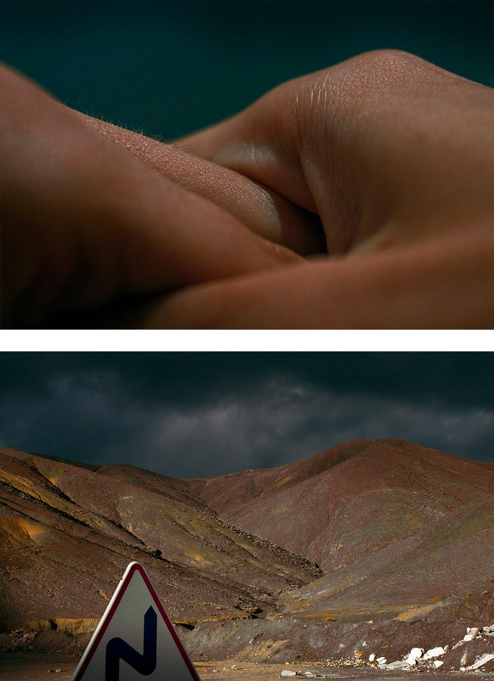 Landscape macro diptych fine art photography comparison warm body soul cinematic art photography