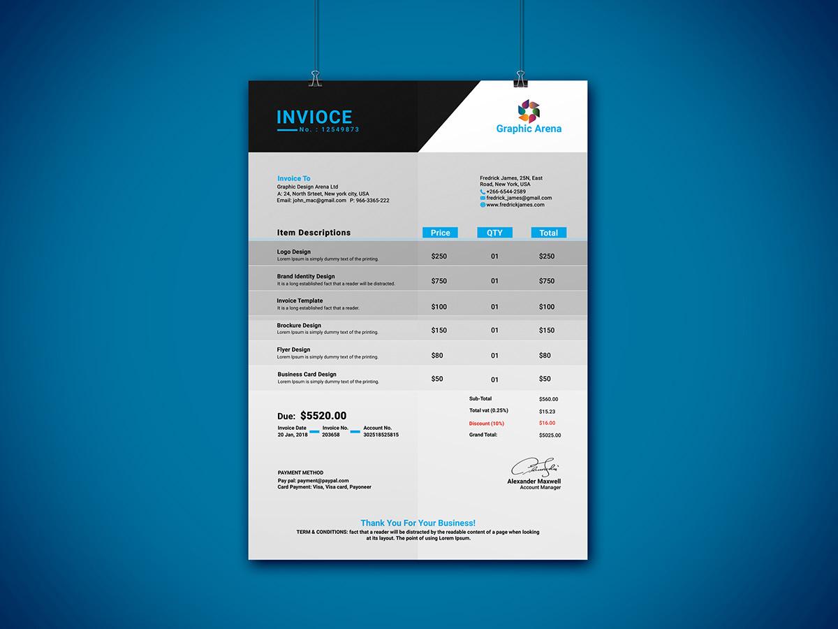 Simple Invoice Design On Pantone Canvas Gallery