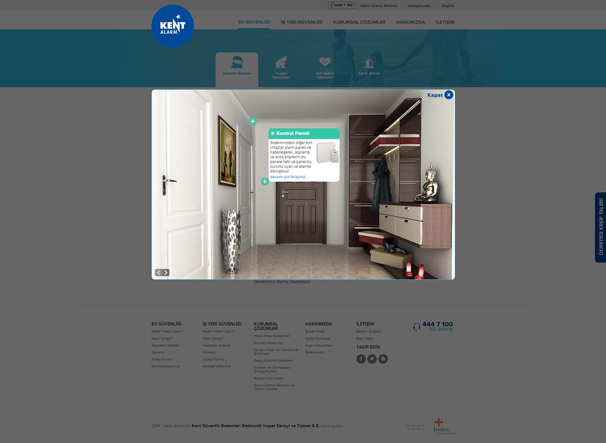 alarm security system Web design Interface coding