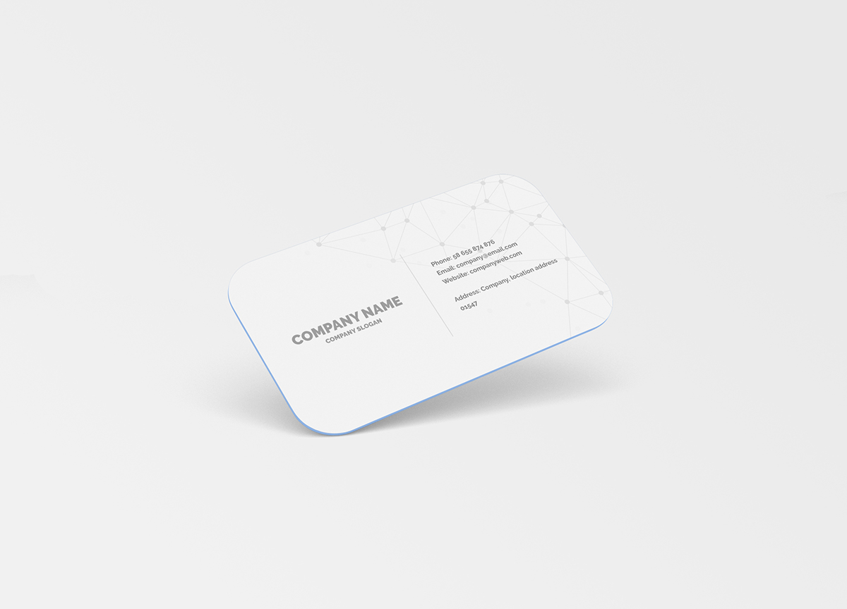 Business card mockup round corners on behance buy this mock up reheart Image collections
