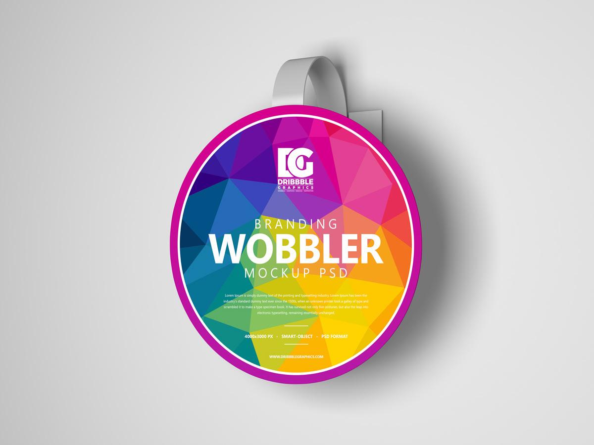 Mockup free mockup  mockup free mockup psd Wobbler Mockup branding  graphic design  freebie Advertising