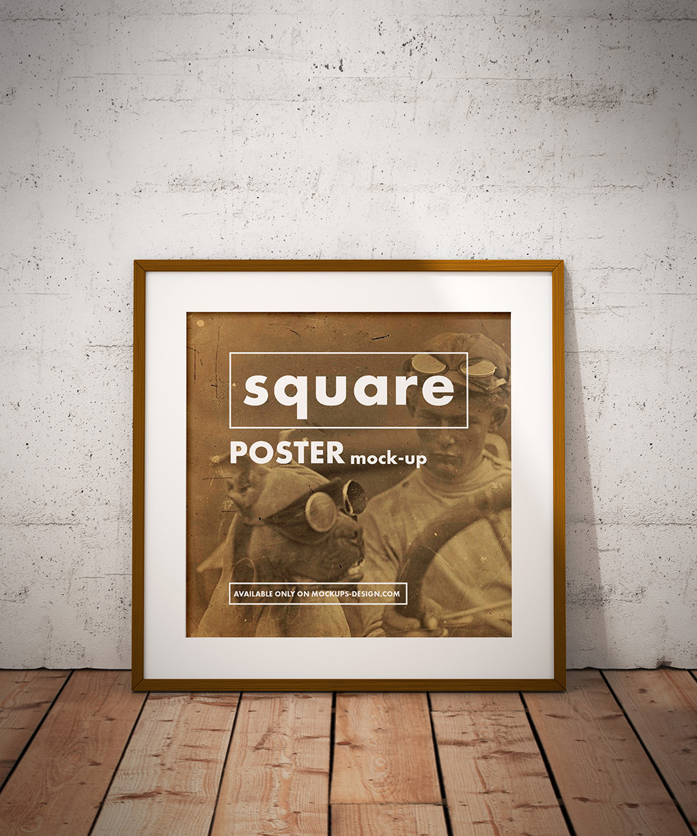 Free Square Poster Mockup On Behance