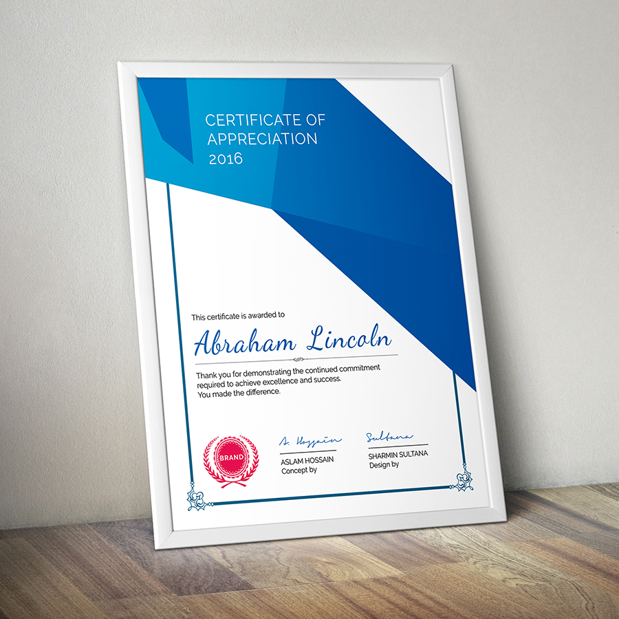 Modern multipurpose certificate gd019 on behance yelopaper Choice Image