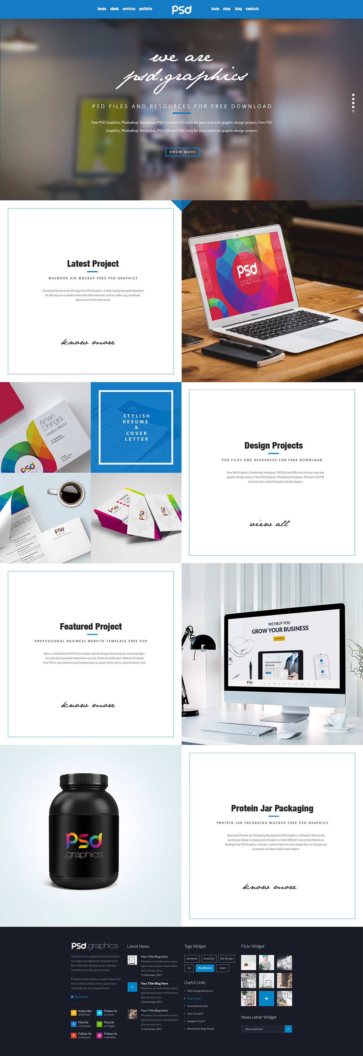 Download Personal Portfolio Website Template Free PSD Graphics A Is The Key To Your Career It Needs Be Clean Beautiful And Focus On You