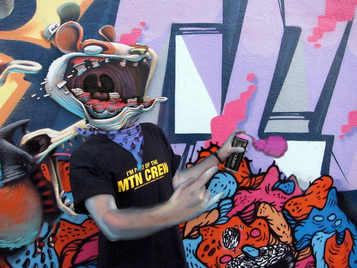 symbiosis artists Character portraits photoshop photocomposition graffiti writers dulk ruina saturno j.loca sabek sendys cisco julieta