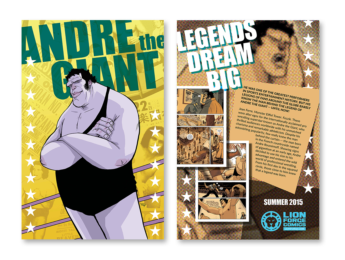 andre the giant promotional poster on behance