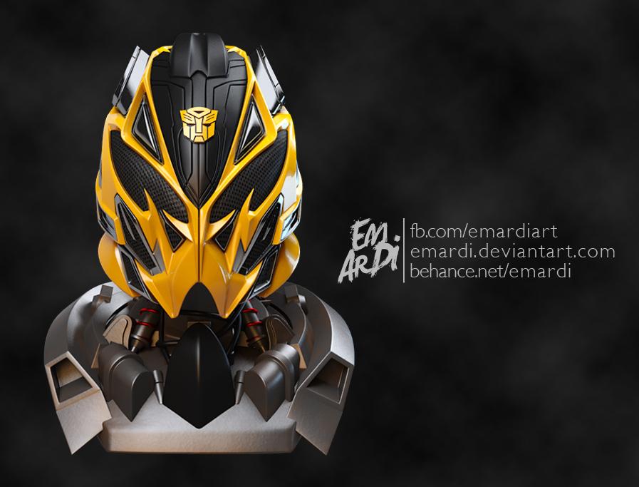 Bumblebee Head Tf4 Battle Mode 3d Fanart On Behance
