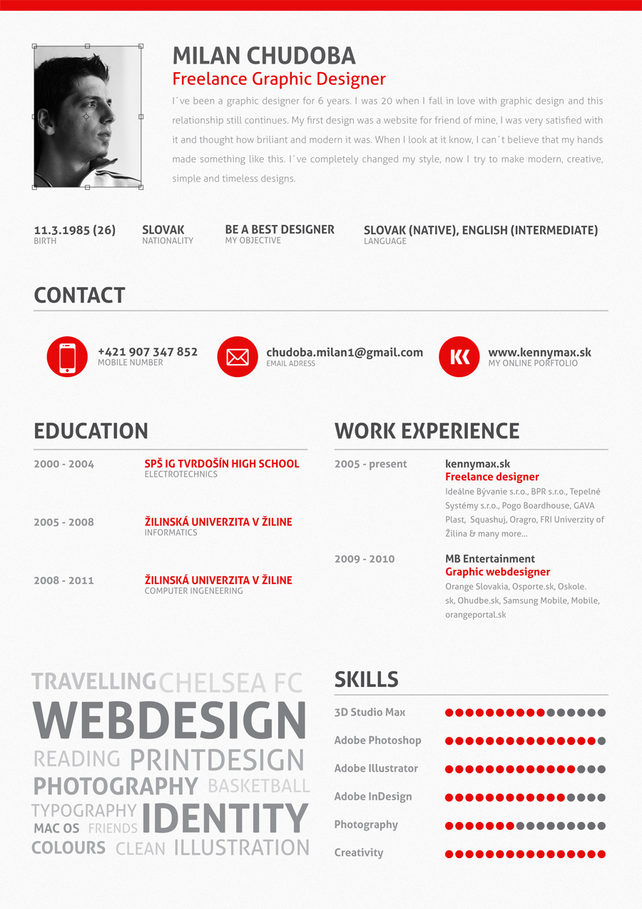 my cv on behance