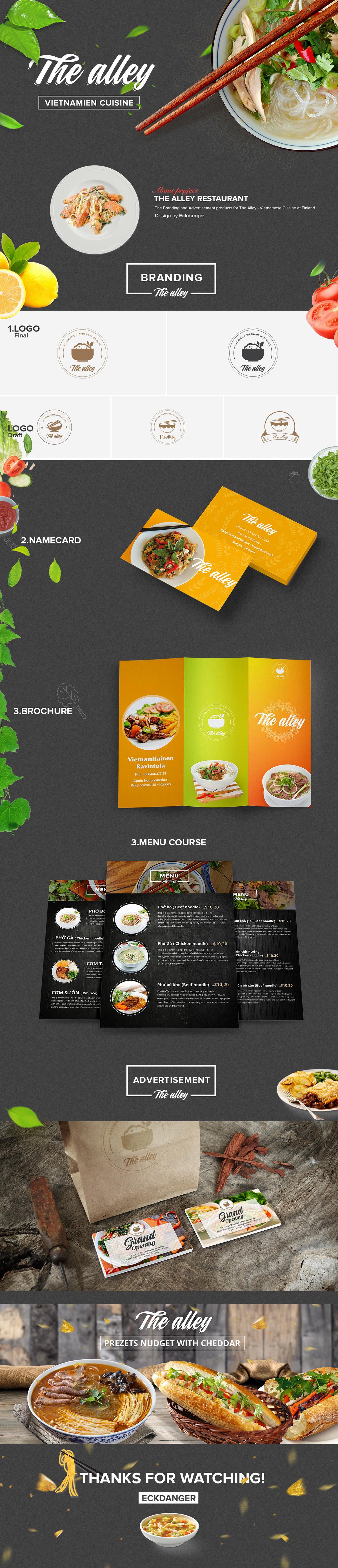 The Alley Restaurant Vietnam Food Cuisine On Behance
