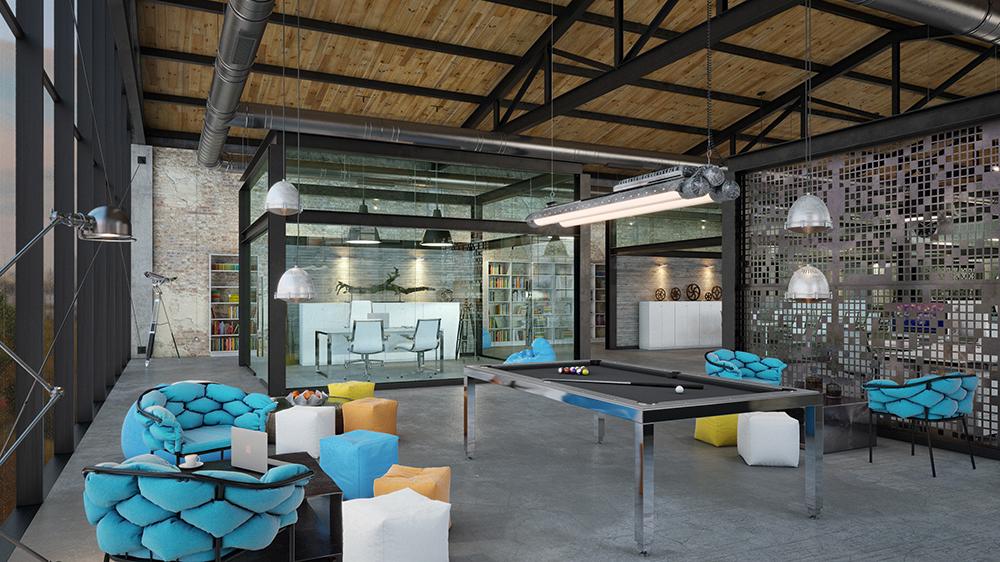 OFFICE DESIGN Loft IT Office Interior Design On Behance Unique Office Design