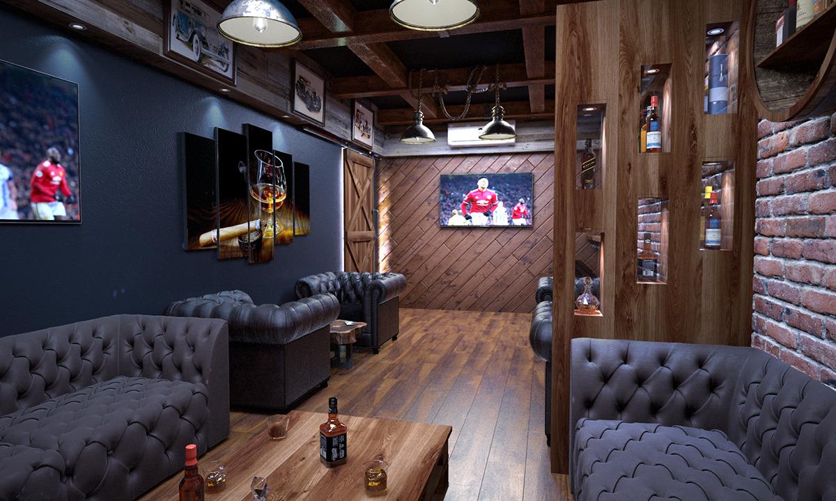 Cigar Lounge On Pantone Canvas Gallery