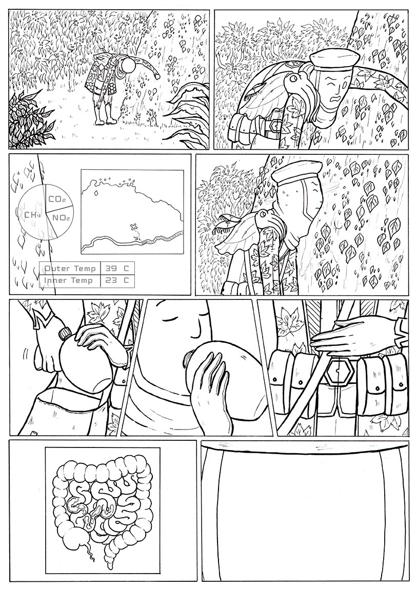 the first virs comic comics sequential Sequential Art Sci Fi science fiction fantasy concept art inking