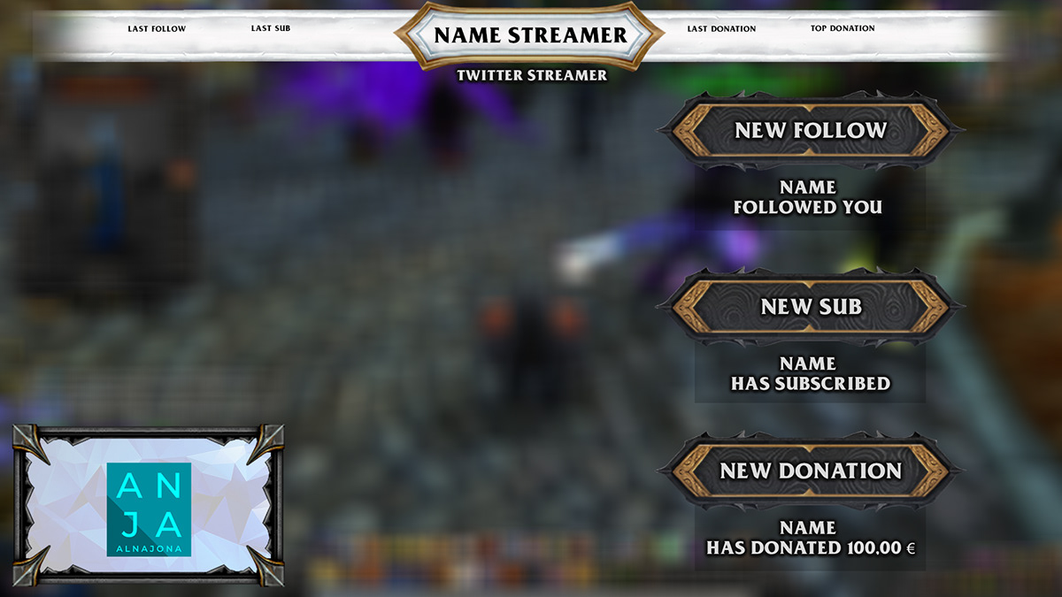 graphic design  Overlay shadowlands Twitch World of warcraft wow youtube