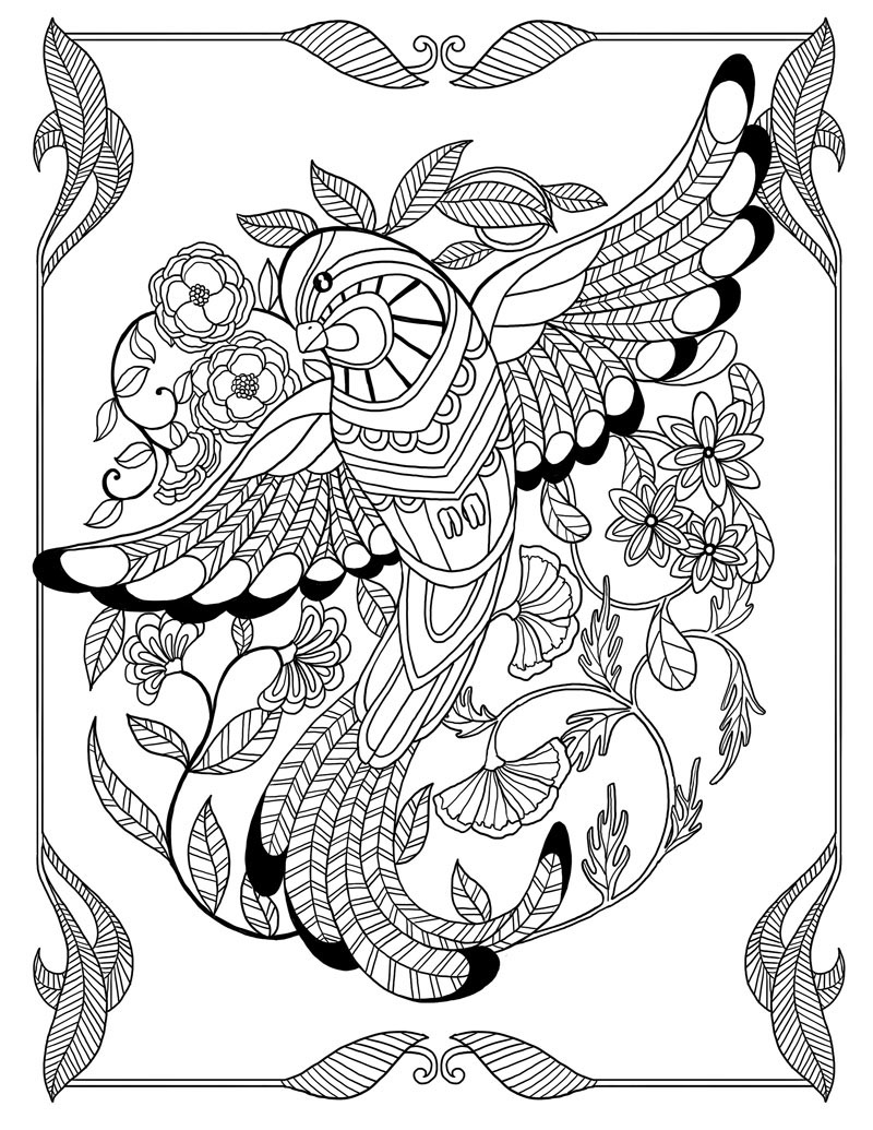 Coloring book for me full -  Themed Illustrations For The Coloring Book Agenda 52 Semaines Pour Me Donner Des Ailes Mon Agenda A Colorier Published By Rustica Ditions Paris