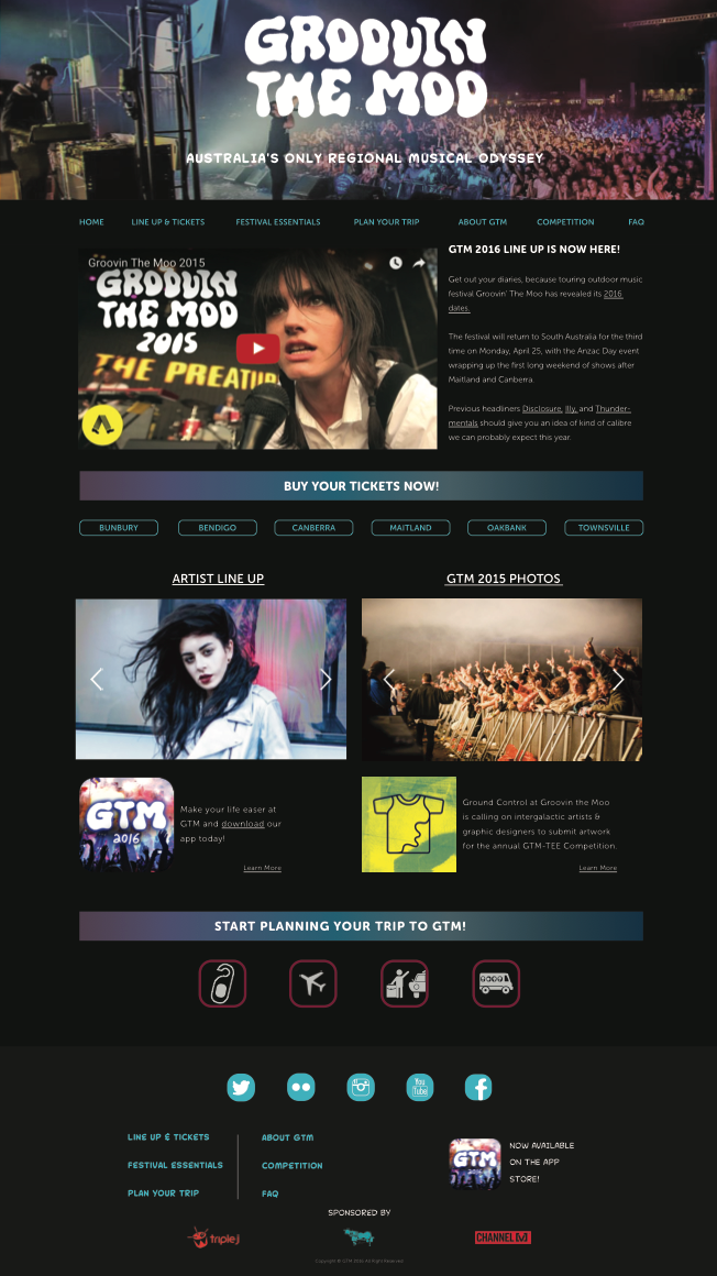 Groovin the Moo - The Festival on Behance