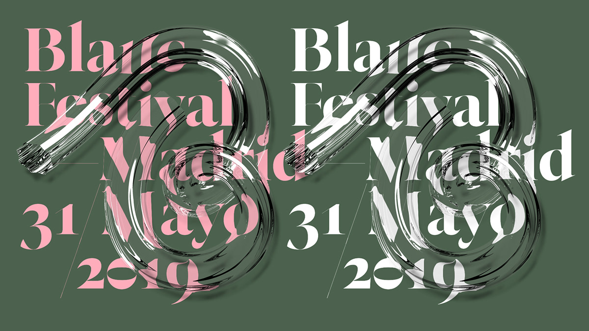 festival graphic design  madrid 3D Type identity colours trend design festival