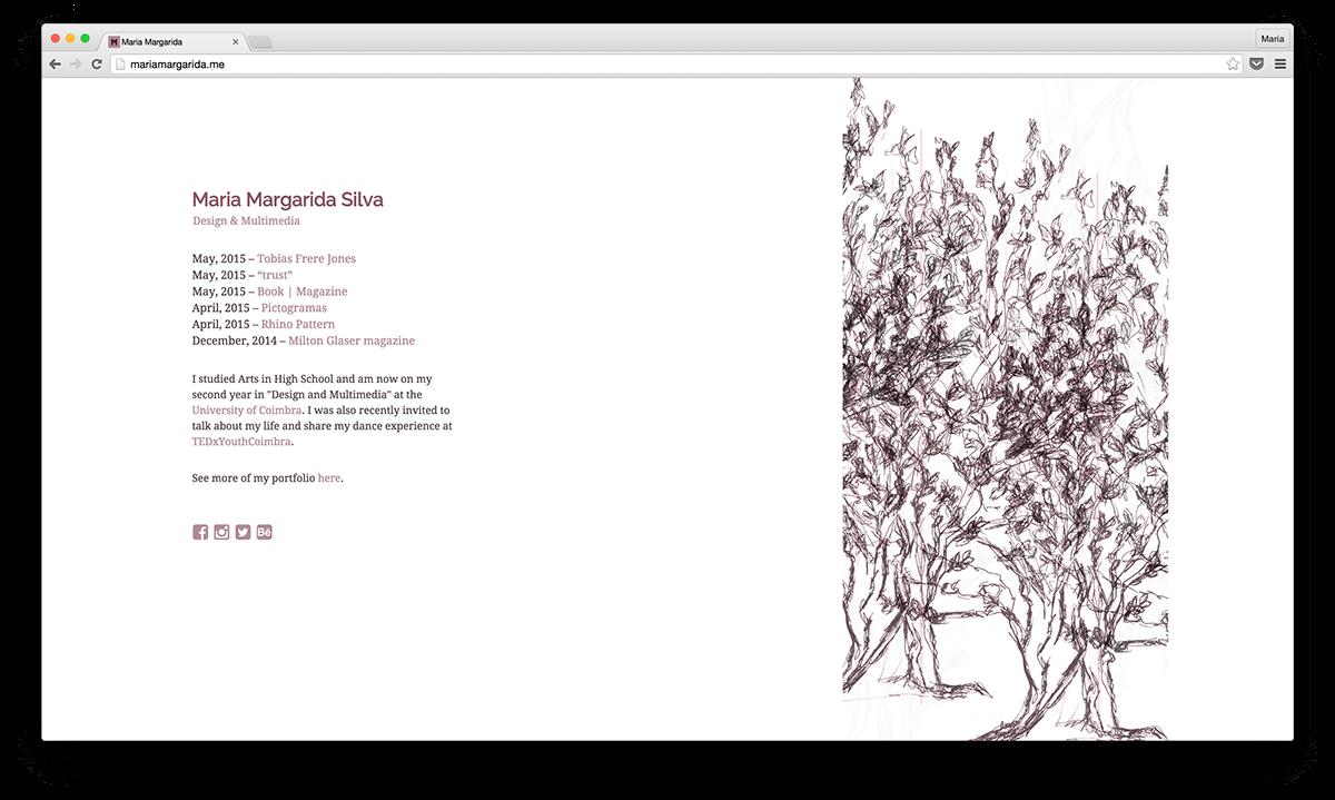 Website portfolio pink first design Web Work