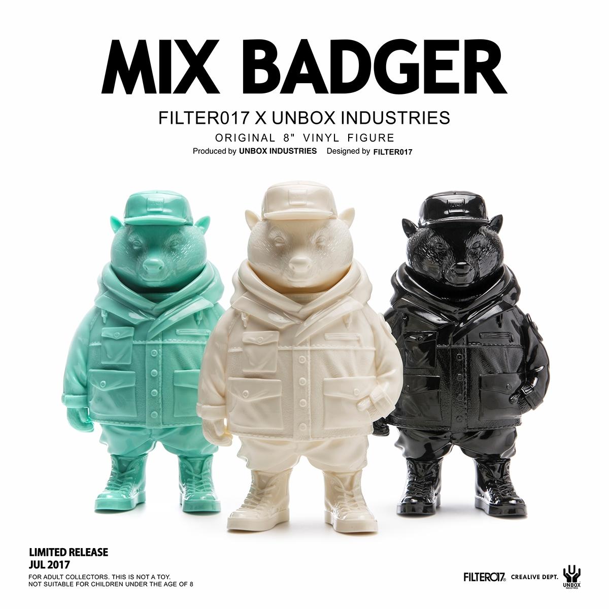 Unbox Industries X Filter Mix Badger Vinyl Figure On Behance - Vinylboden für industrie