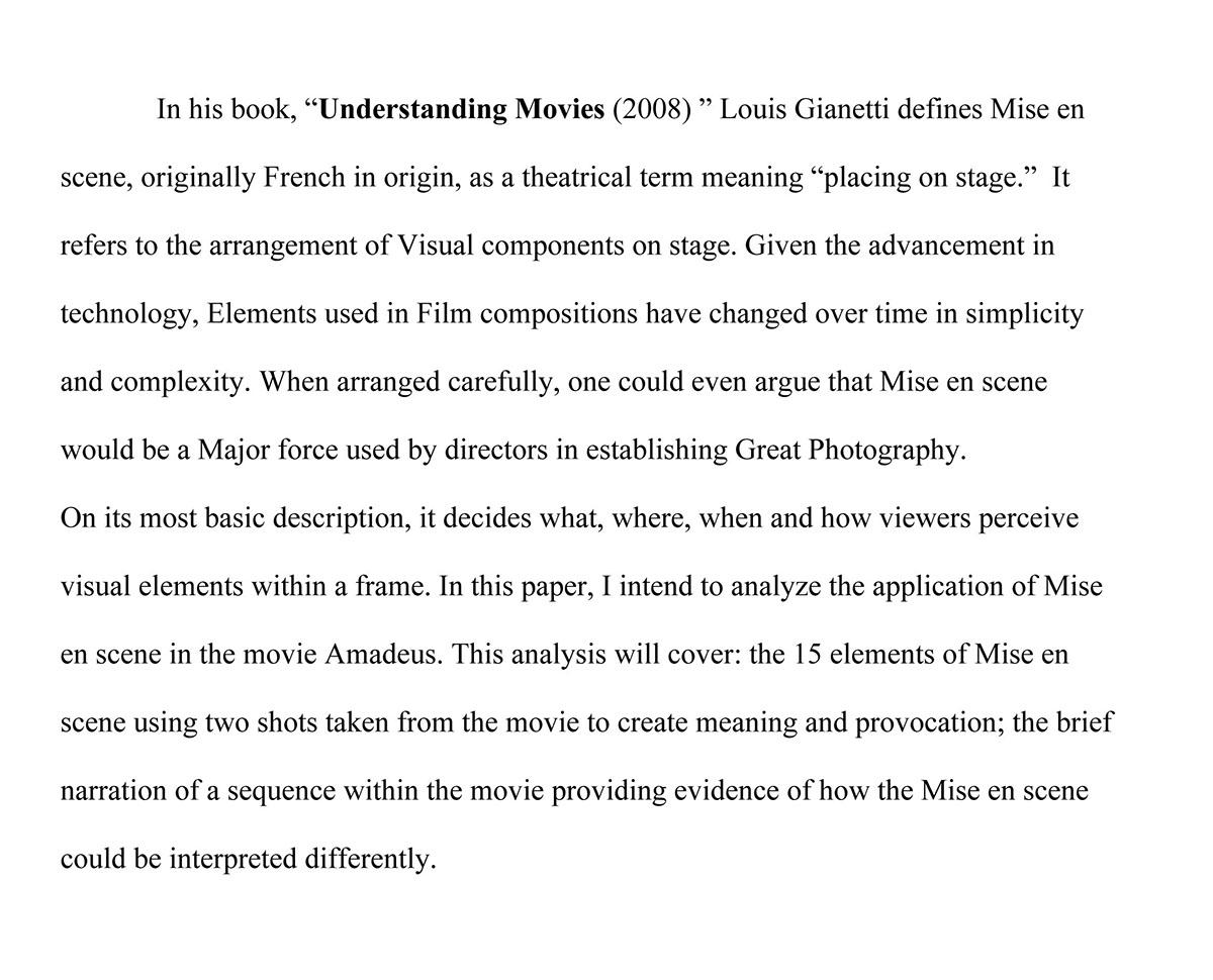 An Analysis of the Movie, Amadeus