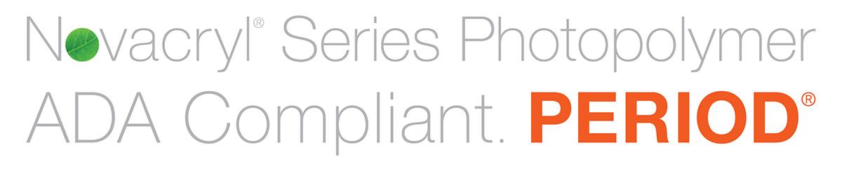 Nova Polymers ADA Compliant. PERIOD Logo Design