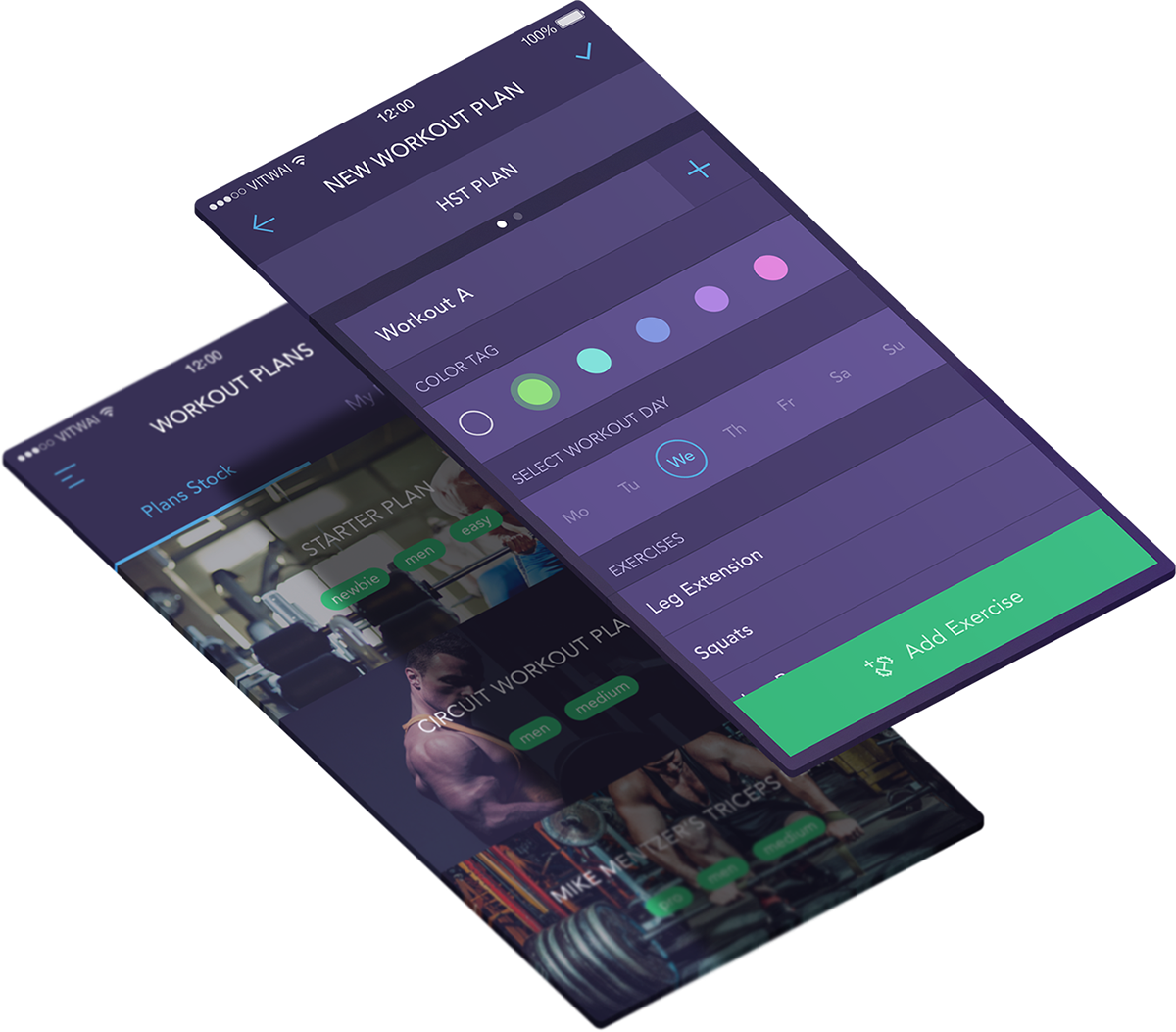 UI ux mobile ios workout gym gif interaction app fitness Interface design iOS Development training