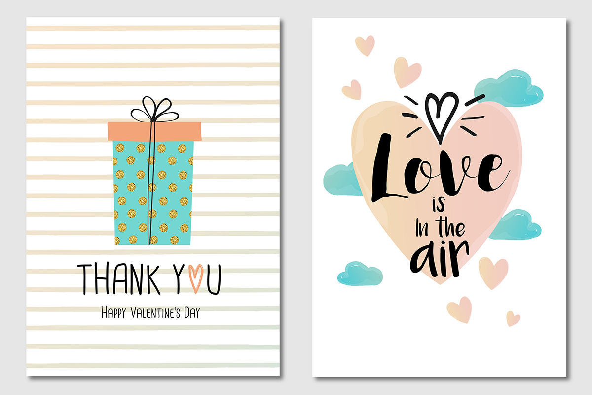 Trendy Valentines Day Greeting Cards Design On Behance