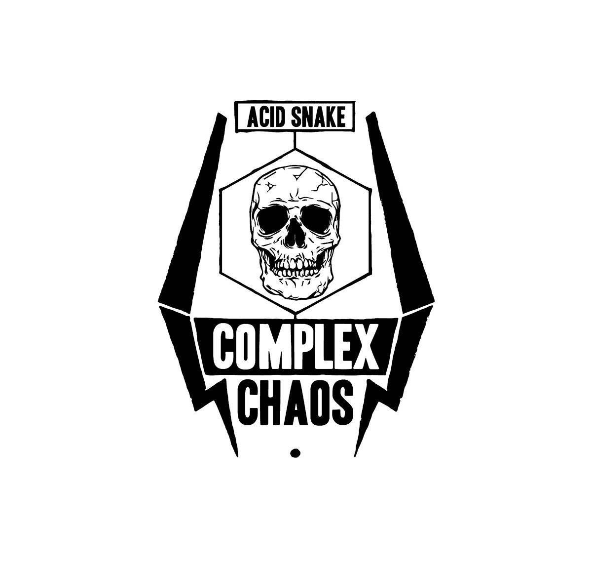 Complex Chaos epitome graphic Logo Design Digital Drawing Vape Vaping Design