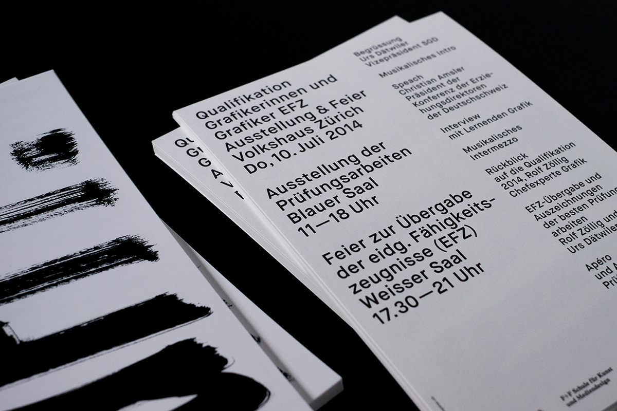 Einladungskarte Invitation Card flyer handwriting black and white b&w Layout graphic design  hand brush