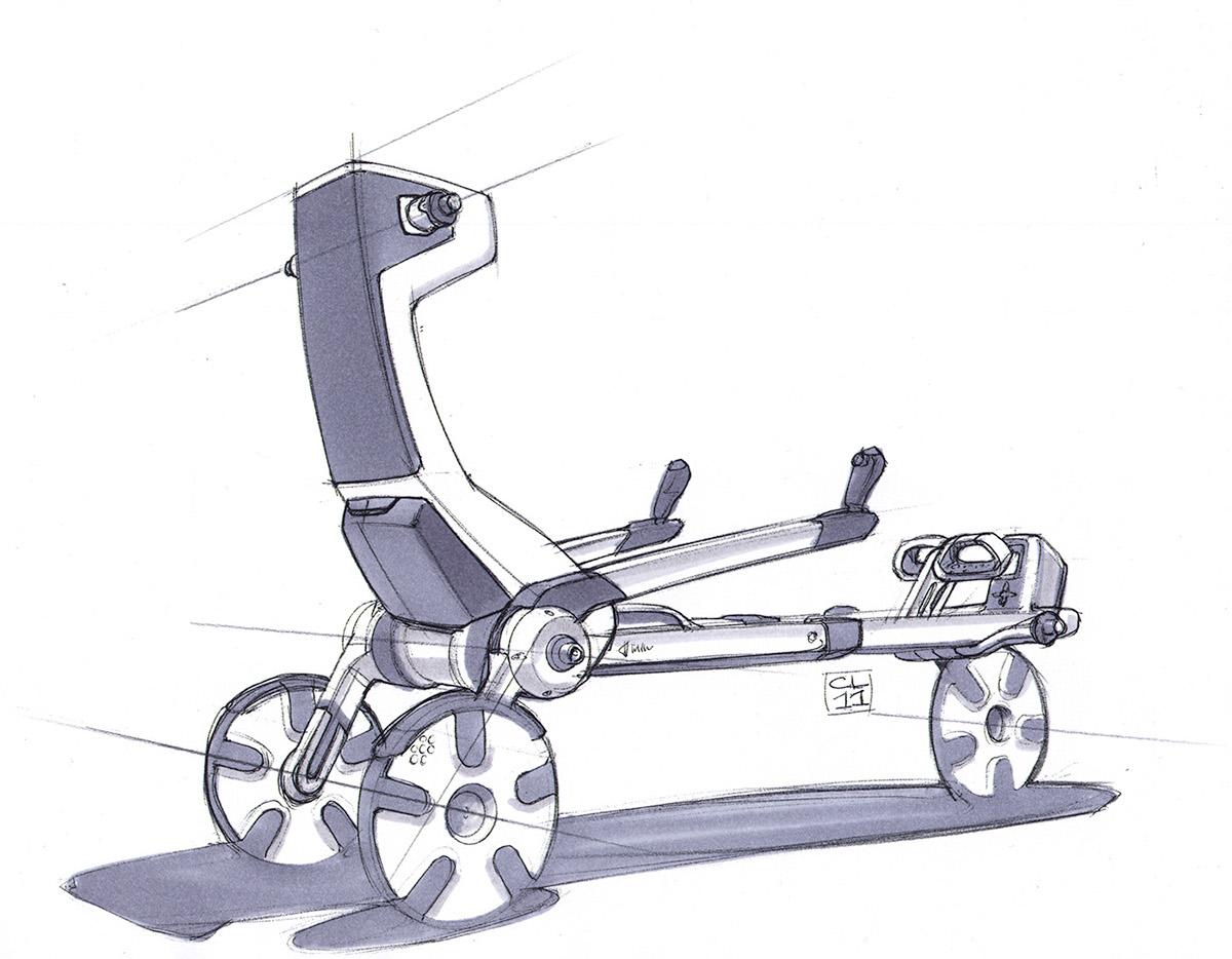 Adobe Portfolio Green power human powered electric vehicle foldable bike