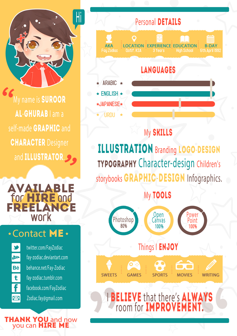 Resume infographic template free