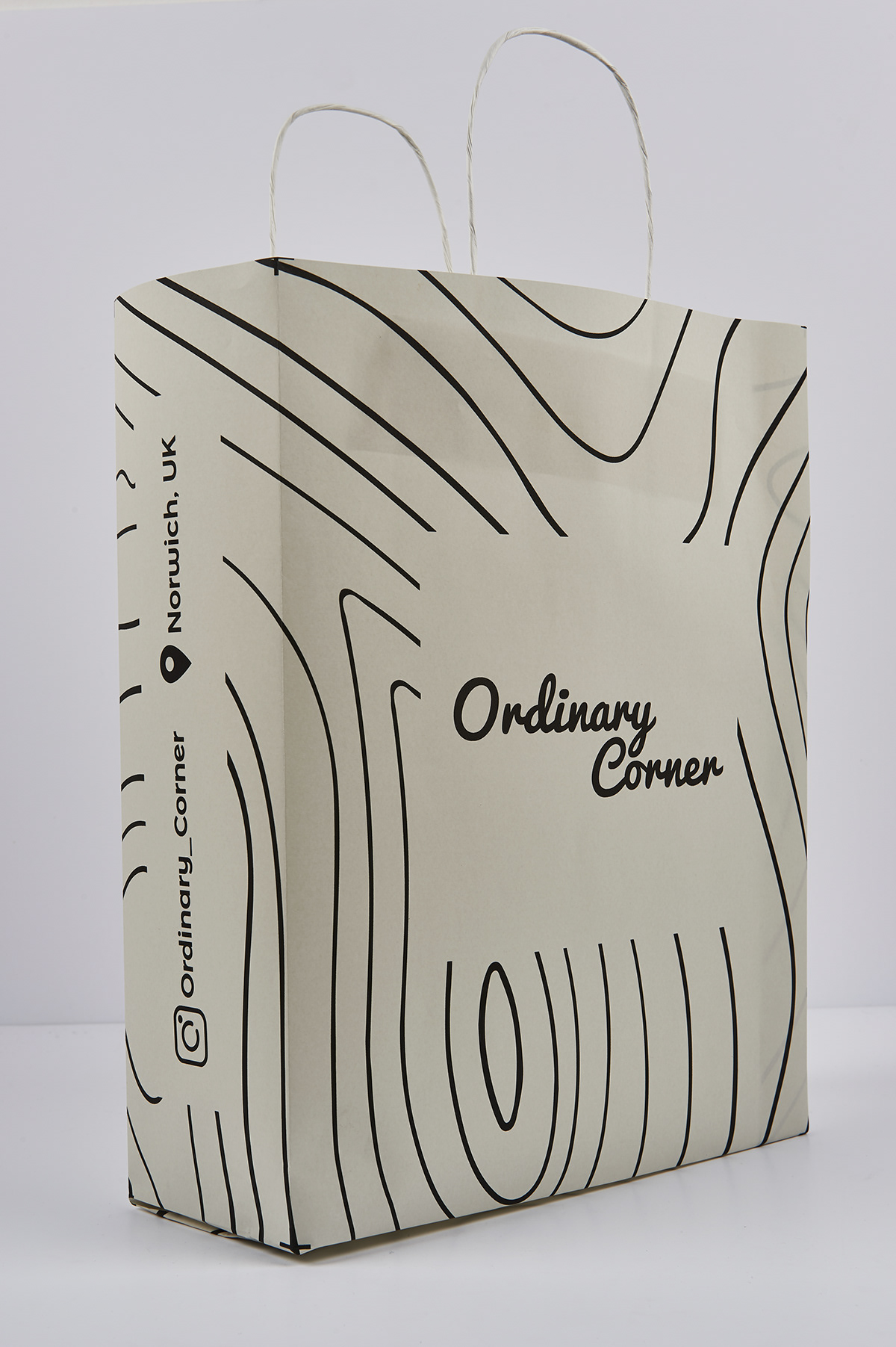 contour lines Grocery store branding  map