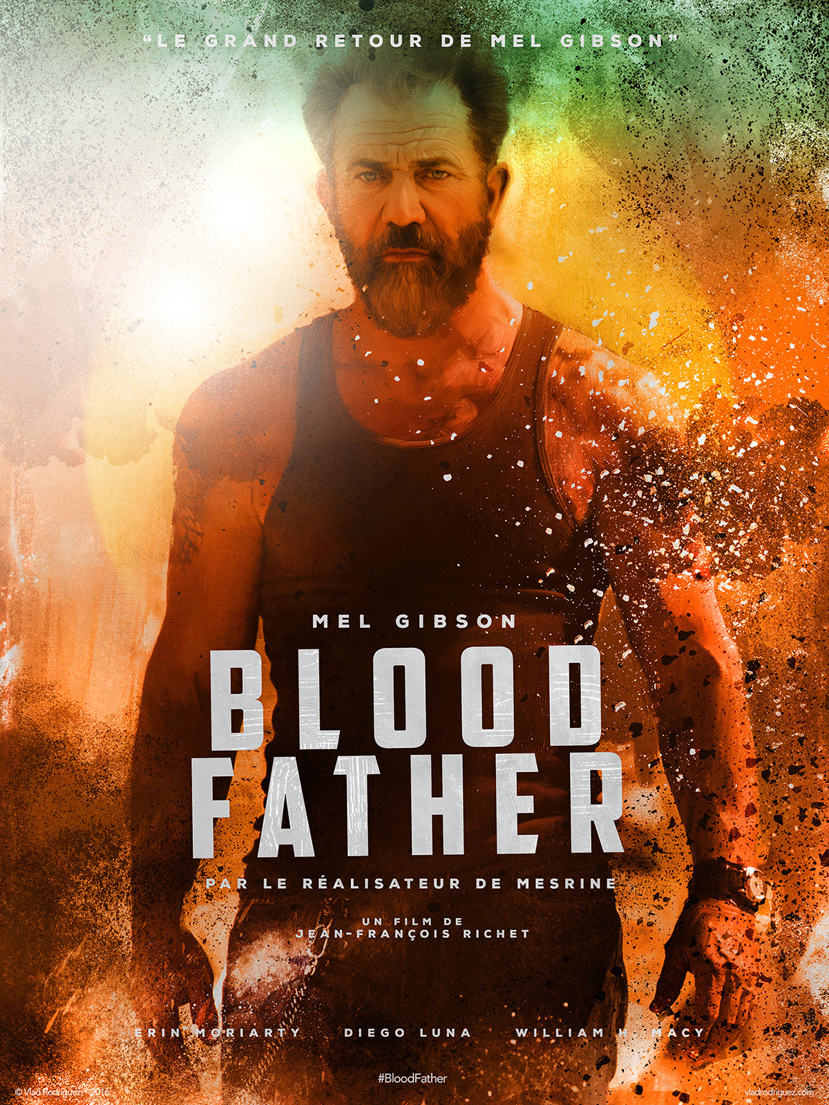 Official teaser poster blood father film on pantone canvas gallery