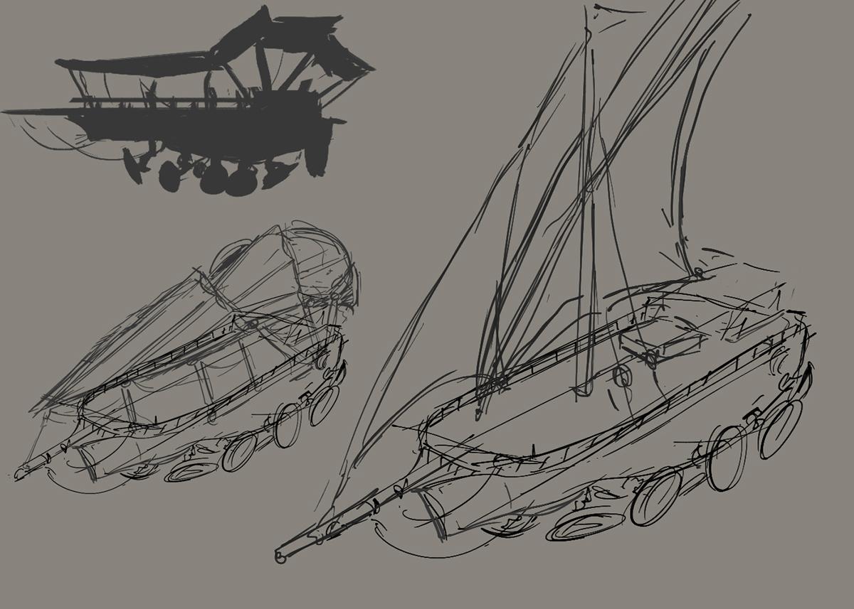 sand ship-vehicle design on behance