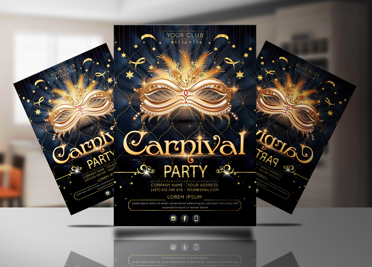 Carnival Party Invitation Template On Student Show