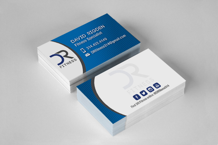 He Wanted A Logo To Represent His Brand DR Fitness After Working With Him Design I Also Created Business Cards