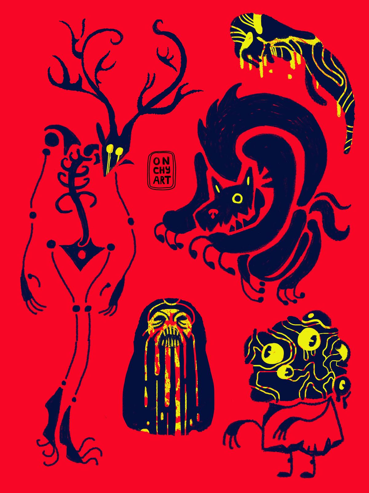 concept Digital Art  horror ILLUSTRATION