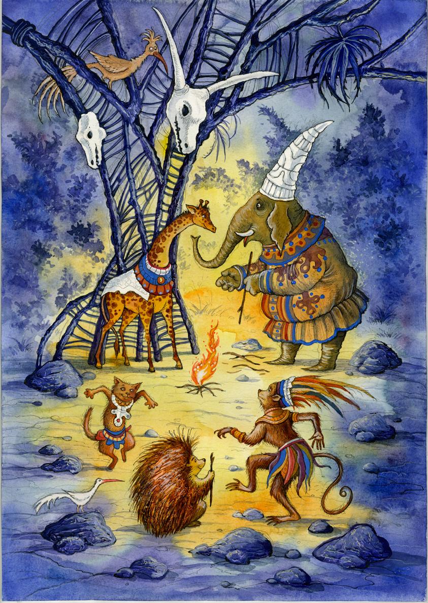 украденные иллюстрации к африканским сказкам соевым