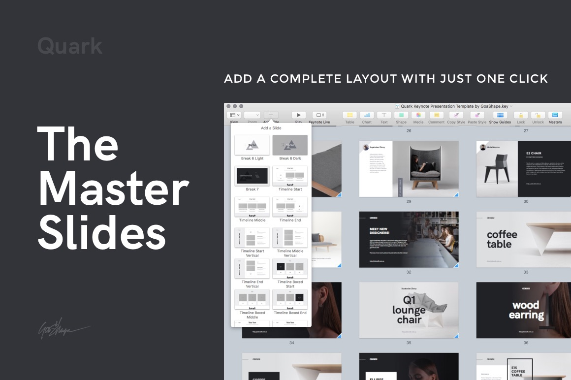 quark keynote presentation template on behance, Powerpoint templates