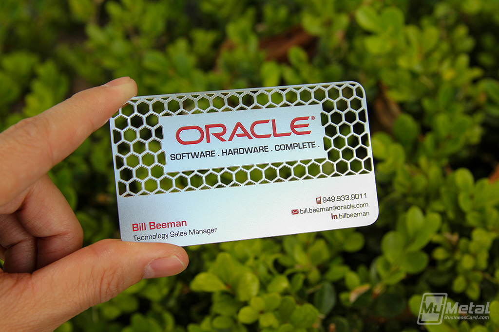 Oracle software hardware metal business card on behance colourmoves
