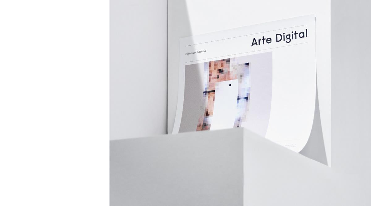 Visual Communication branding  Exhibition  art print poster art direction  pixel graphic typography