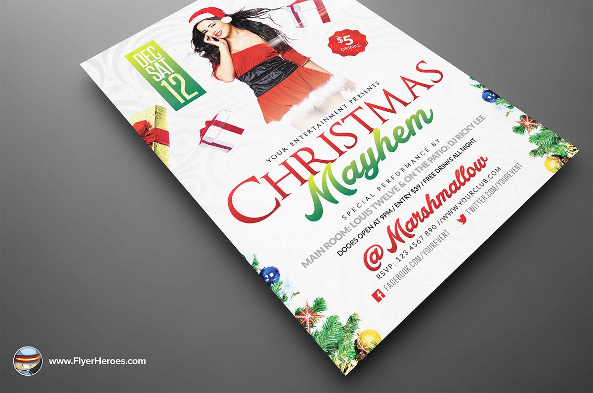 Christmas Myahem Flyer Template on Behance – Mayhem Flyer Template