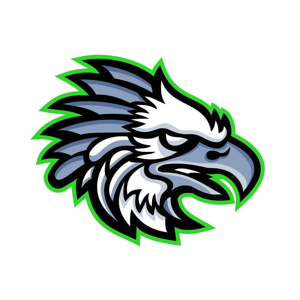 american harpy eagle mascot on behance