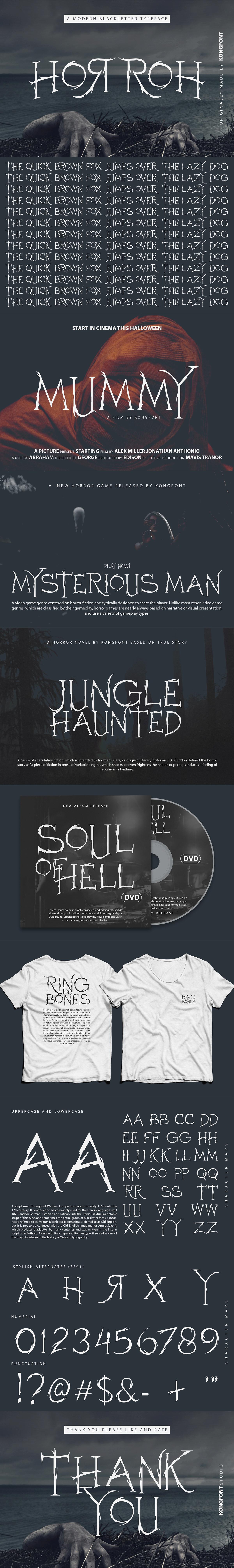 Blackletter branding  creepy Display font fonts horroh